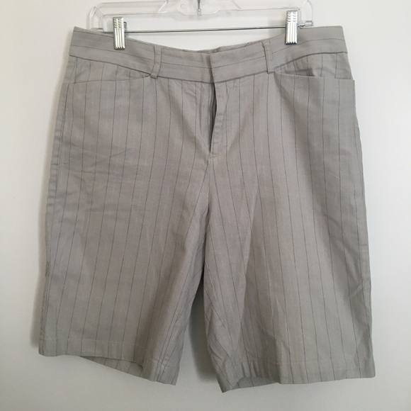 Dockers Ideal Fit grey and black/white pinstripes